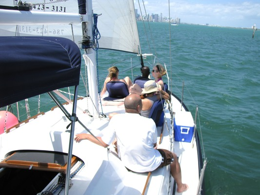 6 pack sailboat for charter in Miami