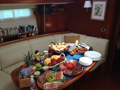 Catering on yachts Miami