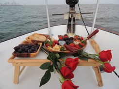 Romantic sails for two on Biscayne Bay