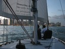 Full moon sailing charter in Miami