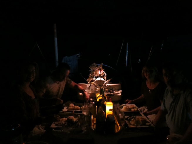 luxury dining on boat in Miami