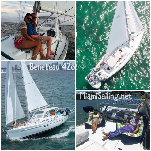 luxury sailboat for charter Miami
