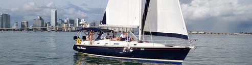 Luxury sailboat Miami