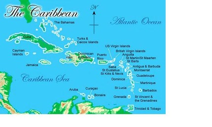 map of caribbean once in lifetime adventure from miami via bahamas to us virgin islands