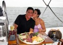 Romantic dinner on a sailboat in Miami