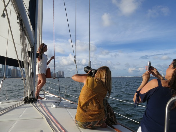 Photoshooting and filming on sail boats Miami
