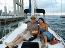 Romantic dinner on a sailboat - private sunset cruise