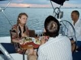 Romantic dinner on sailboat Miam XS