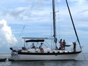 Sailing picnic in Florida Keys