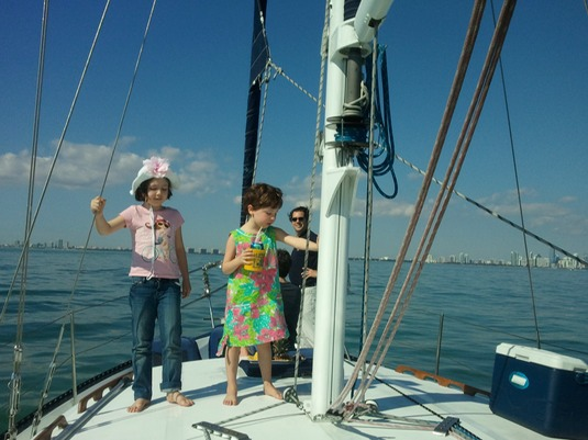 Sailing with kids in Miami