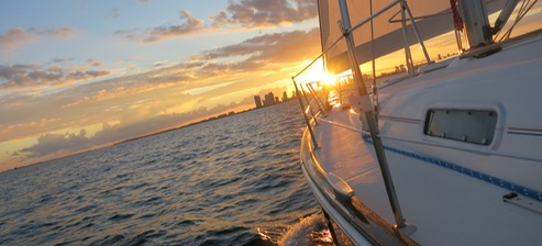 Sunset sails Miami BEach Florida